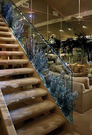 Glass Coral Stairway