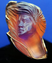 Carving in Ametrine